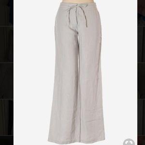 Pants - Tommy Bahama grey metallic stripe linen pants